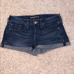 Express jeans shorts size 2